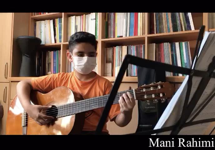 تمرين ريتم و ملودى مانى رحيمى هنرجوی گیتار فرزین نیازخانی