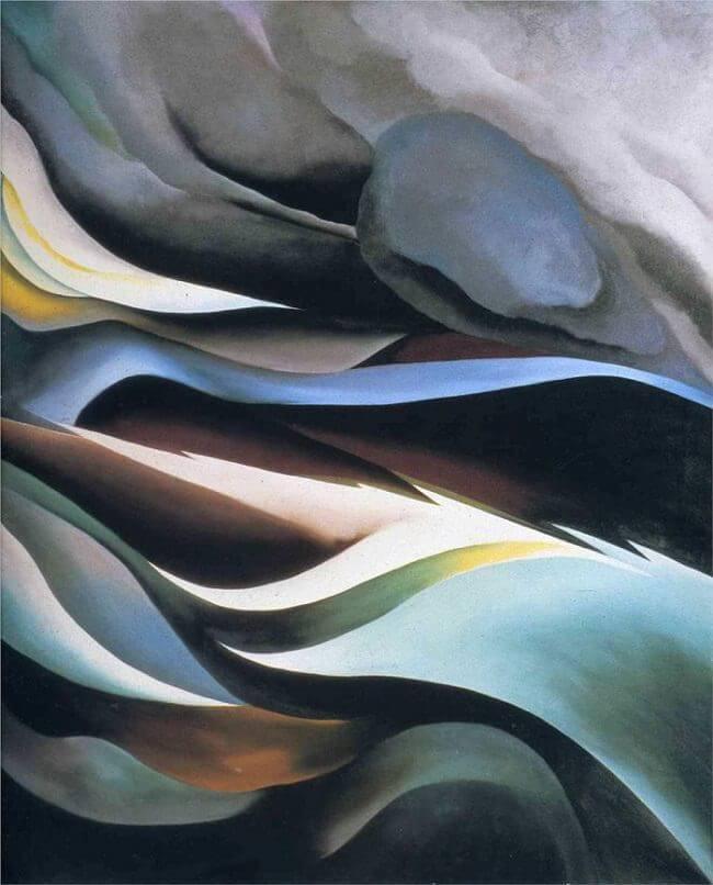 Del lago, 1924 por Georgia O'Keeffe