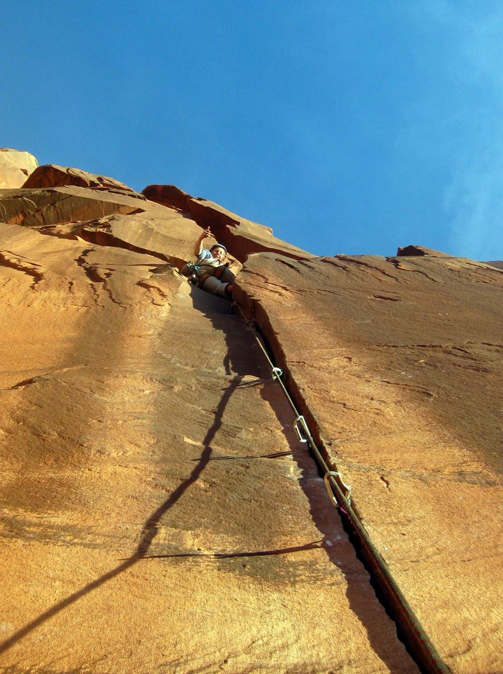 lead climbing indian creek
