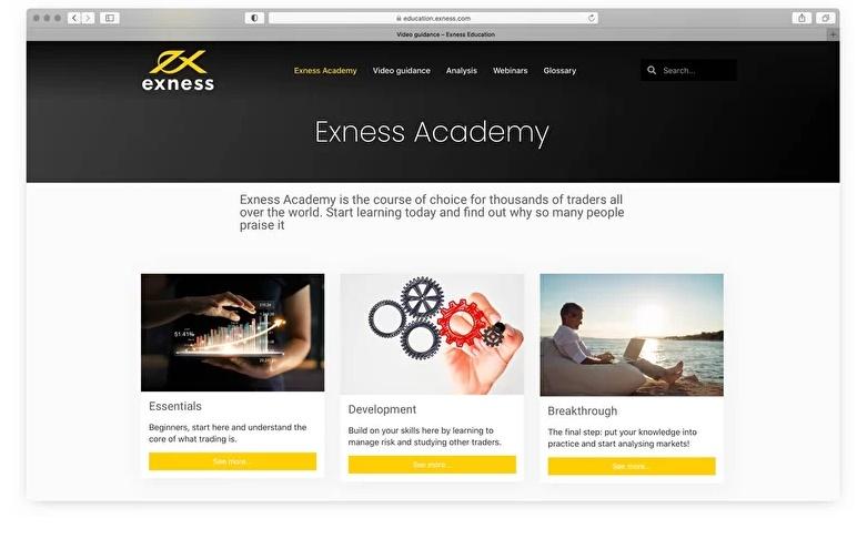 educación con Exness