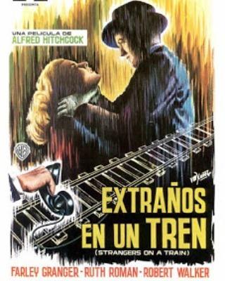Extraños en un tren (1951, Alfred Hitchcock)