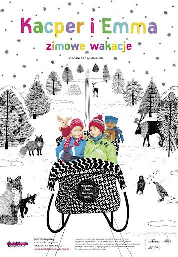 Polski plakat filmu 'Kacper i Emma - Zimowe Wakacje'