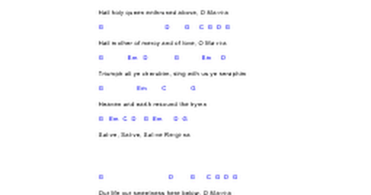 Hail Holy Queen Guitar Chords Google Docs