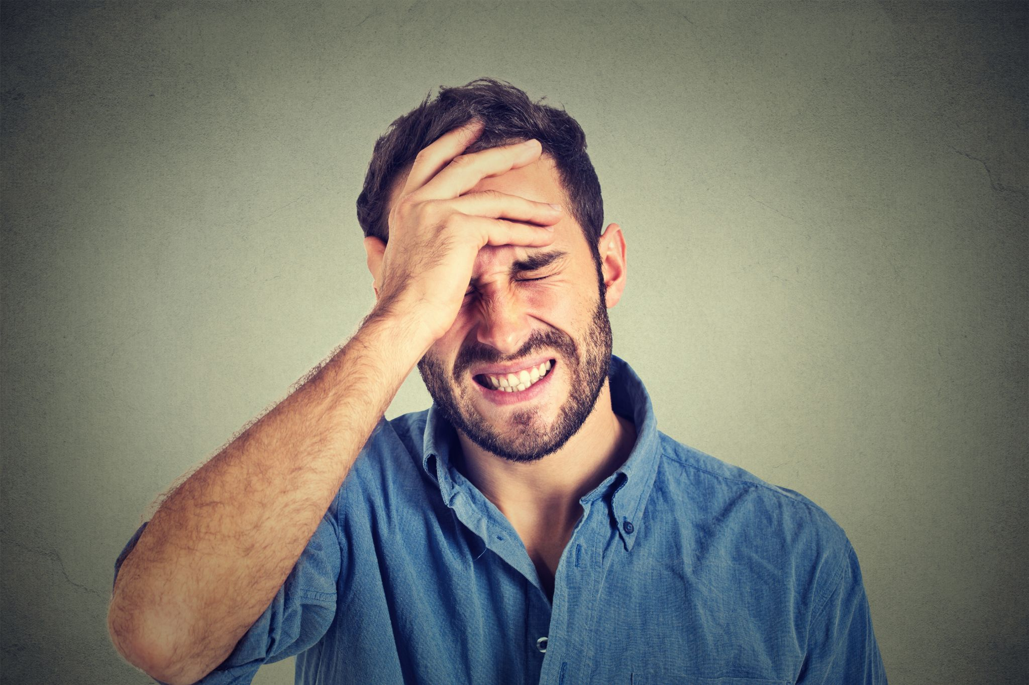 Man regretting his decision not to call a structural engineer