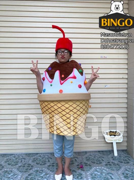 Trang phục hóa trang ly kem