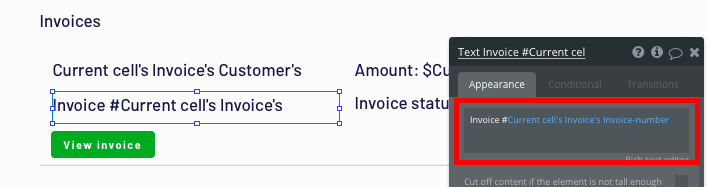 Bubble Quickbooks no-code clone invoice number