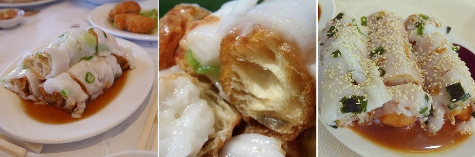 Zhang Liang (Bánh cuốn quẩy): Tương tự như Cheong Fun, Zha Liang có lớp vỏ mềm như bánh cuốn bọc ngoài quẩy giòn.