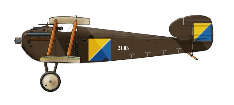 Возможный вид истребителя «Долфин» Первой Запорожской эскадры. Реконструкция Г. Васильева и Е. Ушакова
