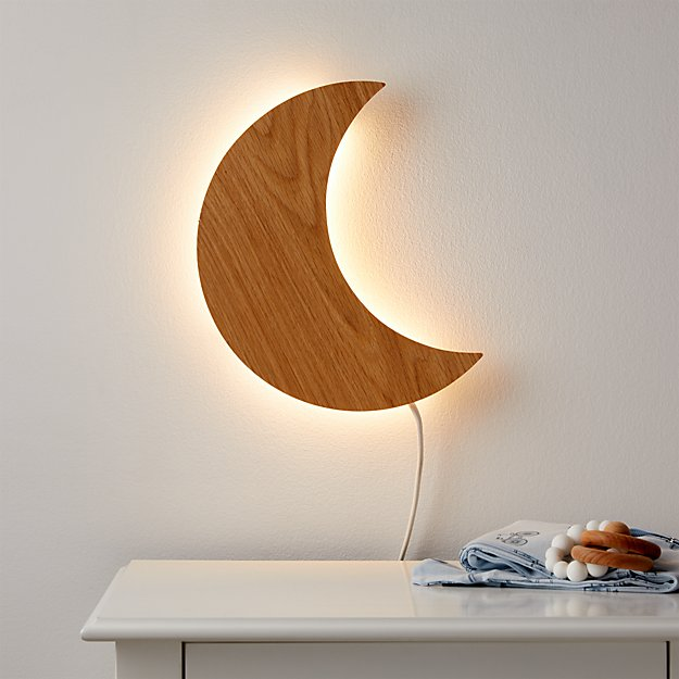 Crescent Moon Wall Night Light - Crate and Kids Exclusive