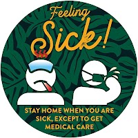 "9"" Blue Circle - Feeling Sick"