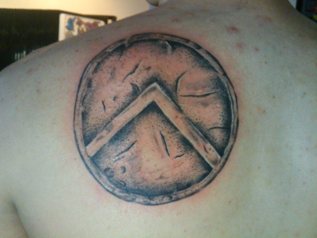 spartan shield tattoo