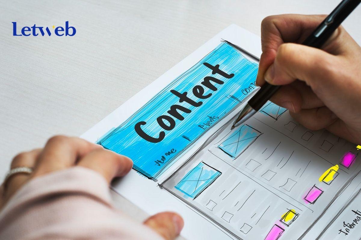 Phẩn bổ nội dung trên giao diện cần đảm bảo sự cân đối và hài hòa