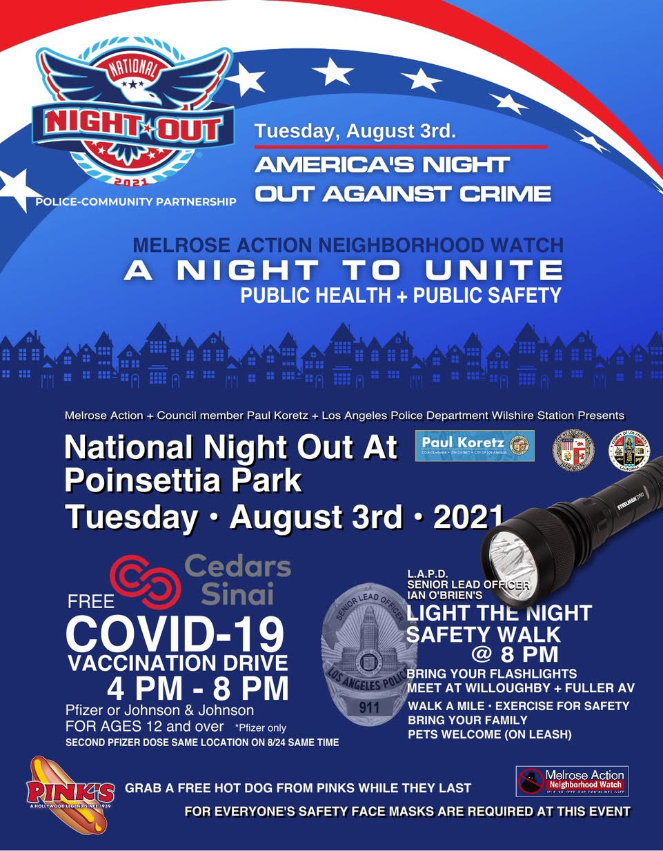 Melrose Action National Night Out Flyer