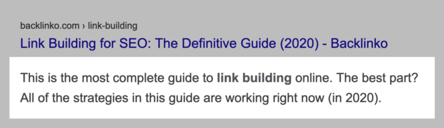 Пример хорошо оптимизированного метатега Description