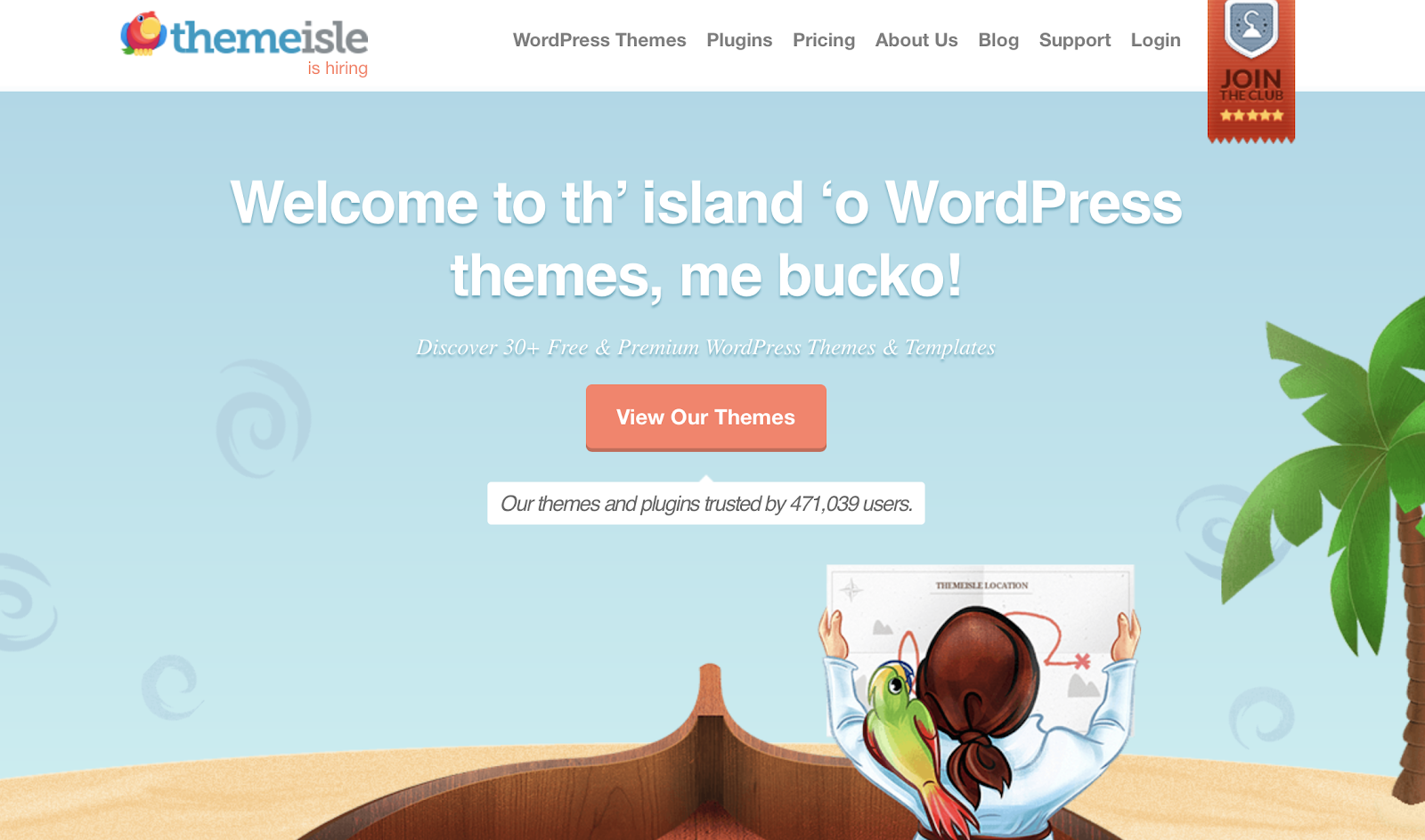 Themisle has an assortment of WordPress themes.