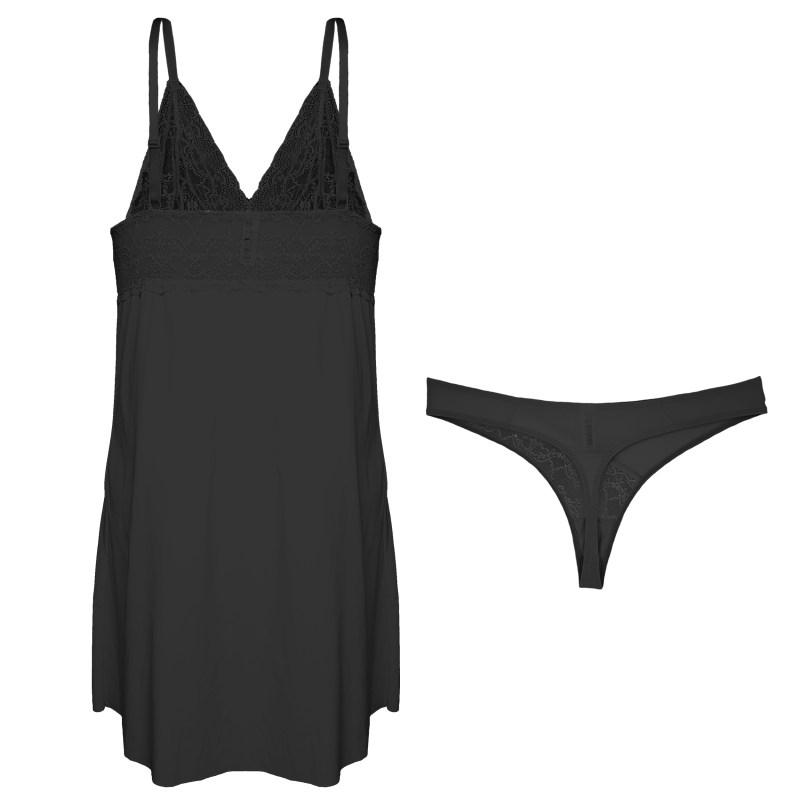 لباس خواب زنانه ینینچی مدل 10050 رنگ مشکی