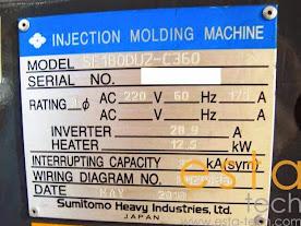 Sumitomo SE180DUZ-C360 (2010) All Electric Plastic Injection Moulding Machine