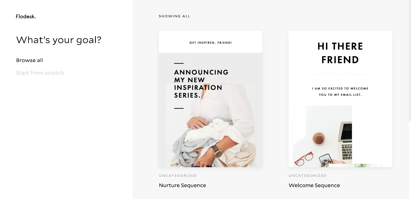 Flodesk email template examples