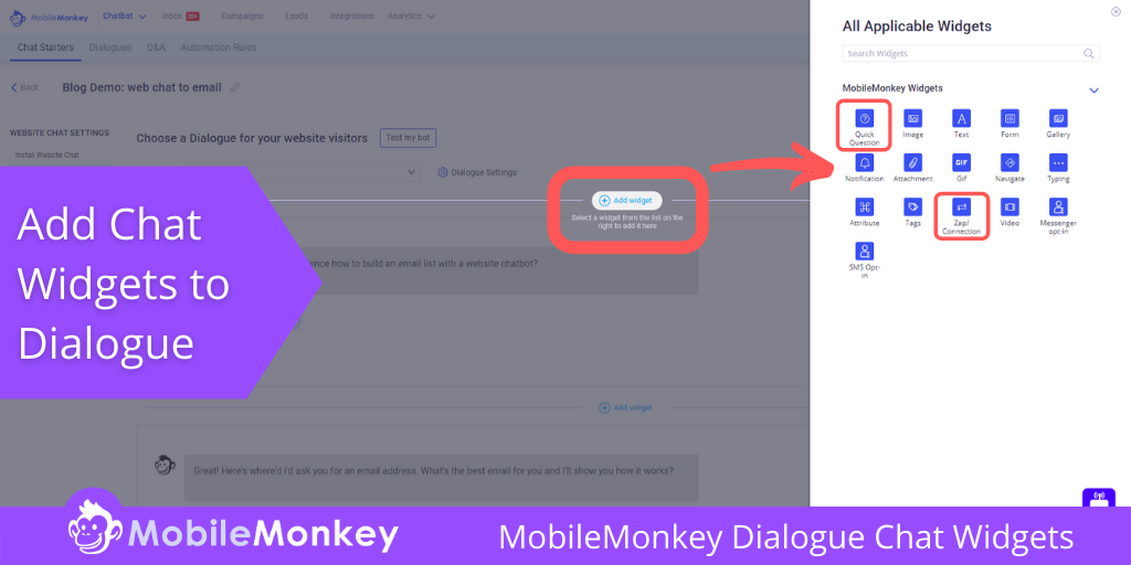 MobileMonkey Dialogue Chat Widgets