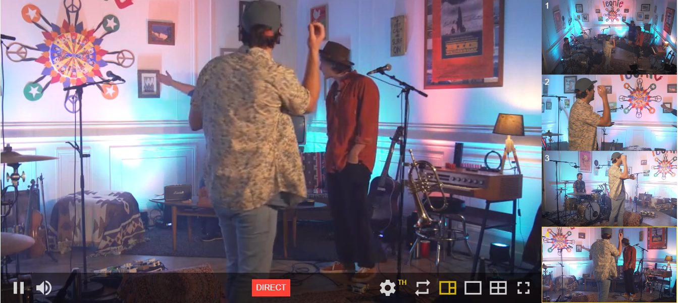 capture d'écran lors du concert à 2 balles du groupe Léonie