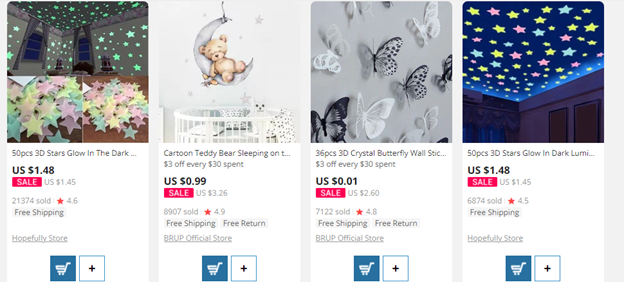 Aliexpress products for drpshipping baby items