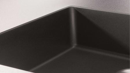 A subtle, straight-lined undermount sink
