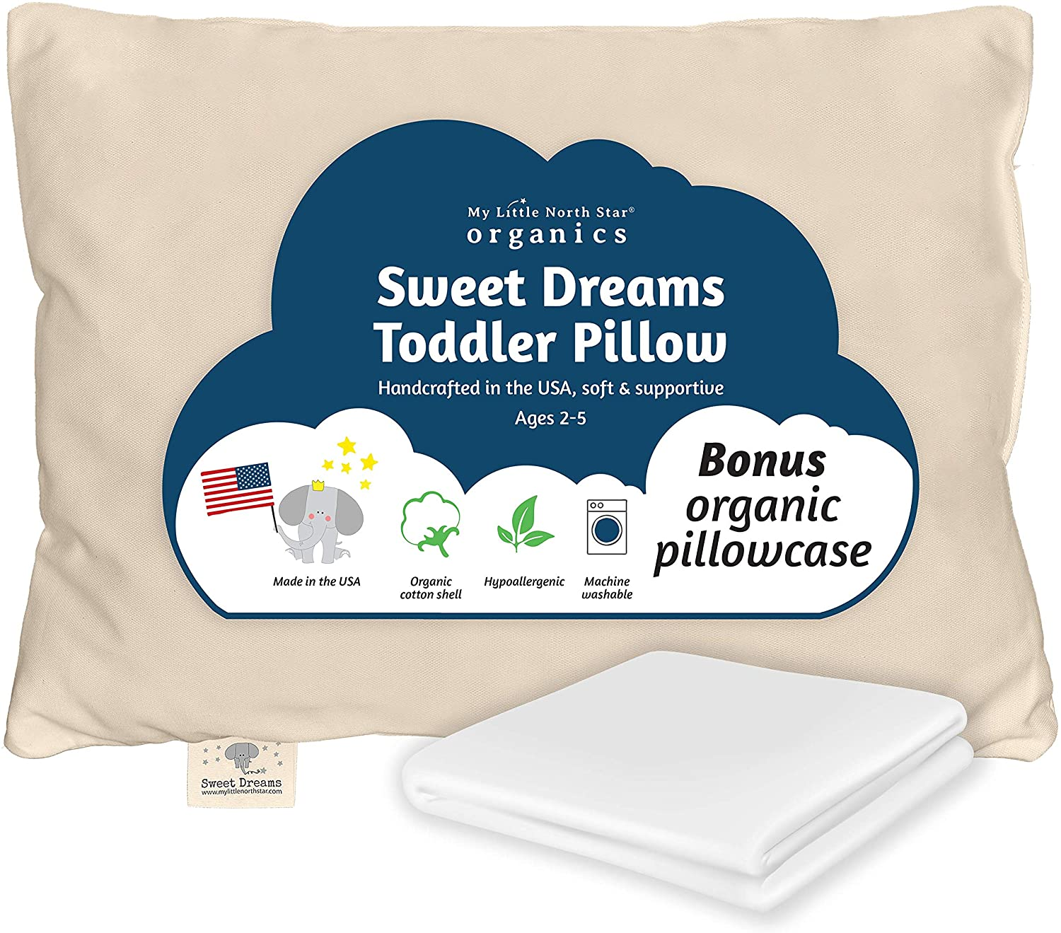Sweet Dreams Toddler Pillow by My Little North Star