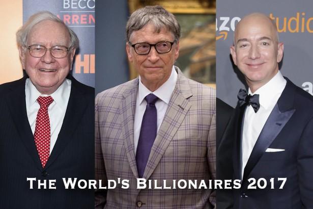 【2017年】世界の長者番付ランキングの最新版
