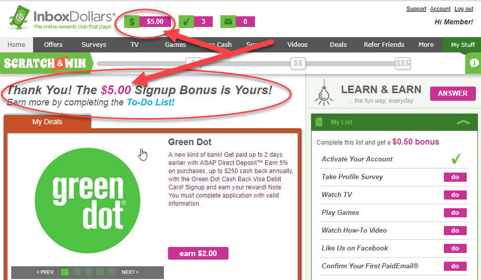 Does InboxDollars Really Work? EArn $5.00 When You First Sign-Up. Join Today And Get Your Bonus!
