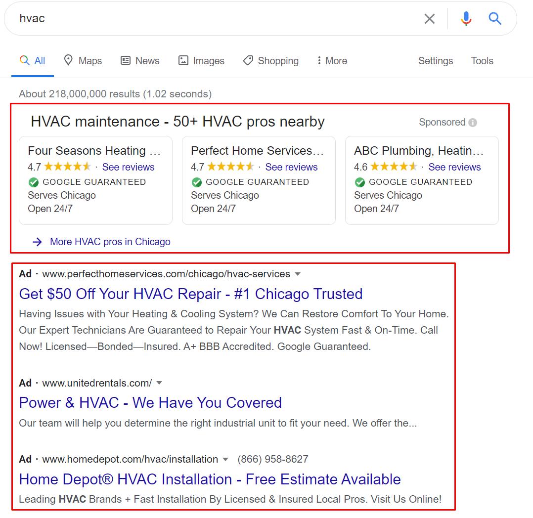 Google Guaranteed and Google Search Ads