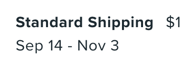 Wish shipping speed