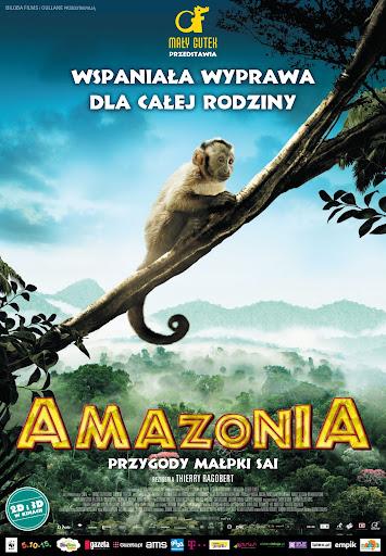 Polski plakat filmu 'Amazonia. Przygody Małpki Sai'