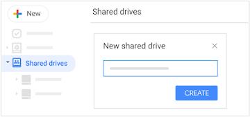 Create a shared drive