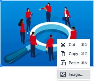 A context menu displayed for a selected image
