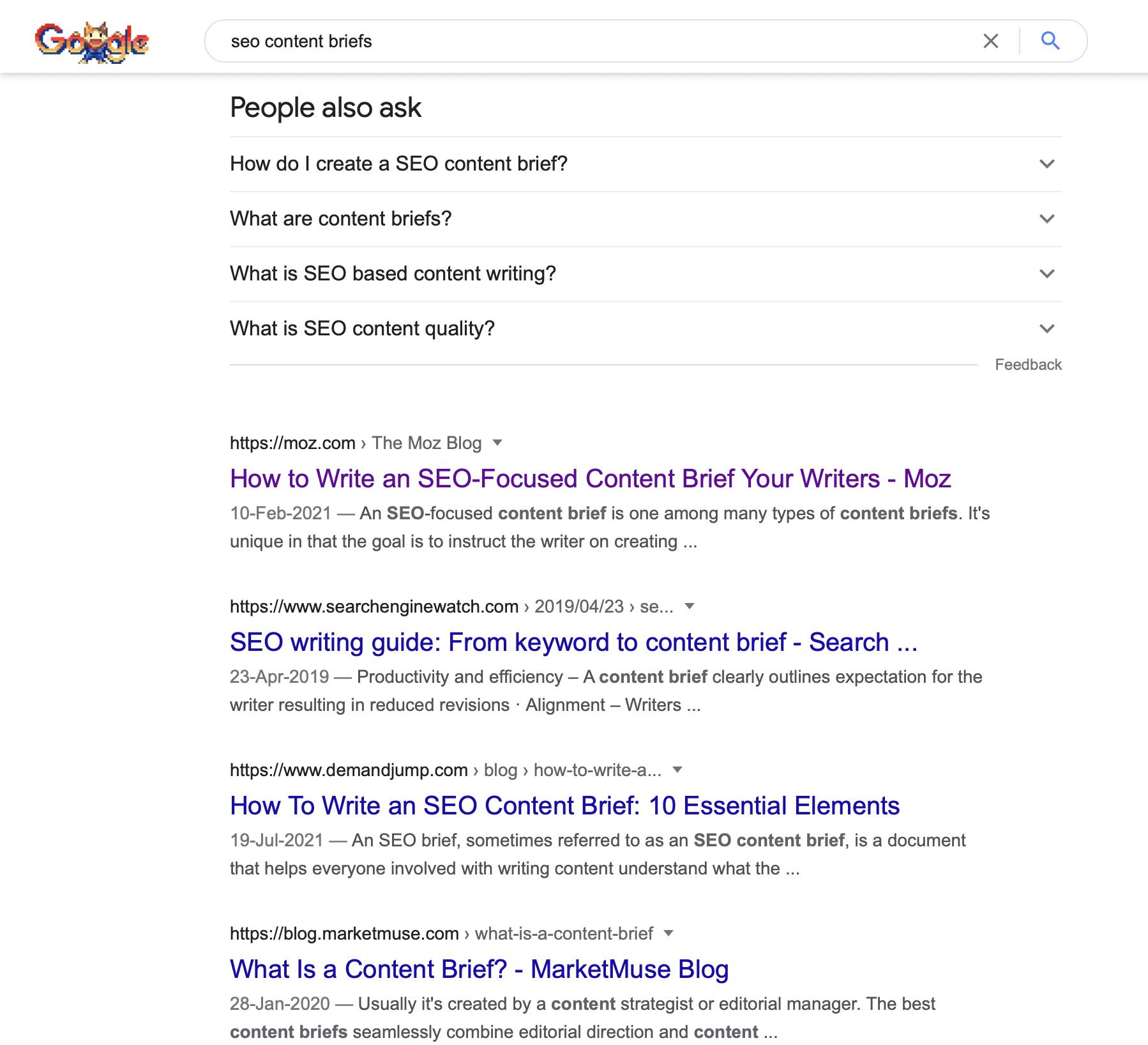 SEO Content Brief