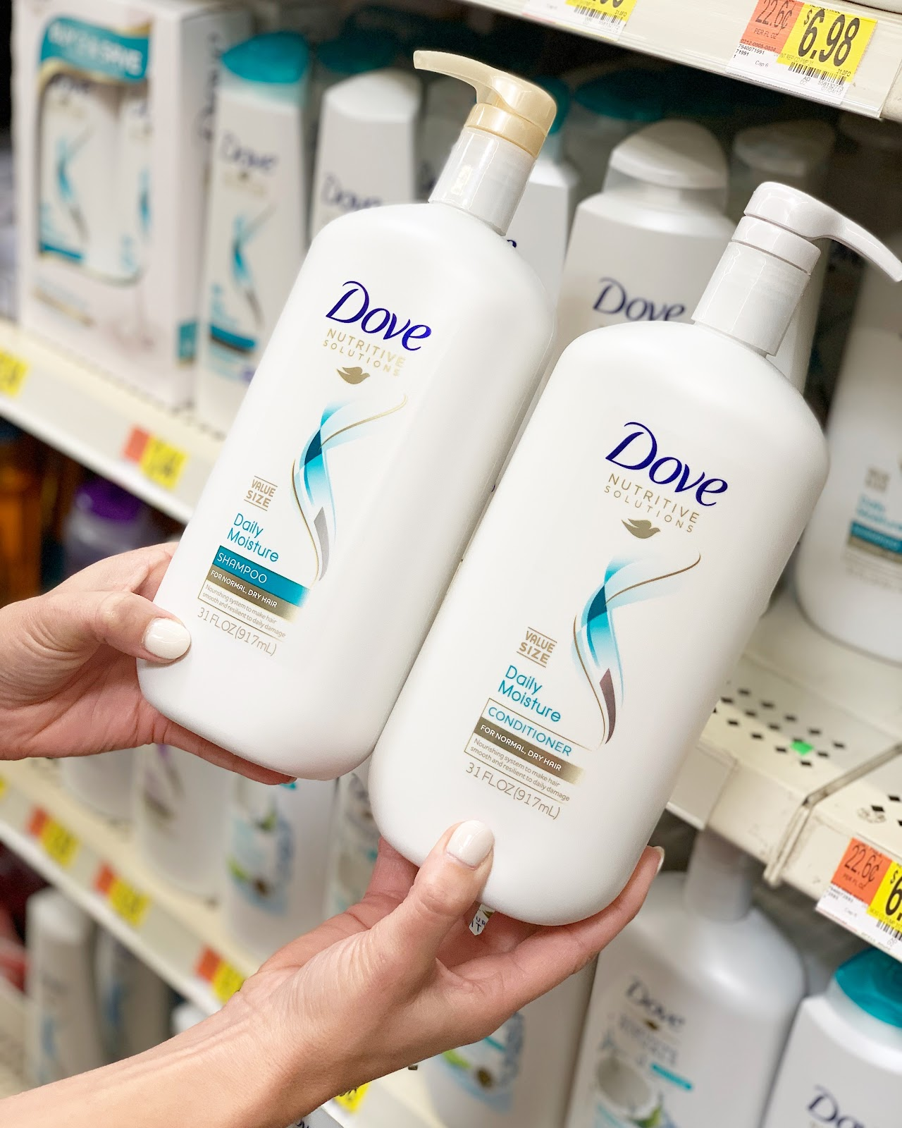 dove nutritive solutions shampoo and conditioner at walmart