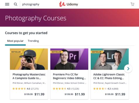 Udemy - категория курсов по фотографии