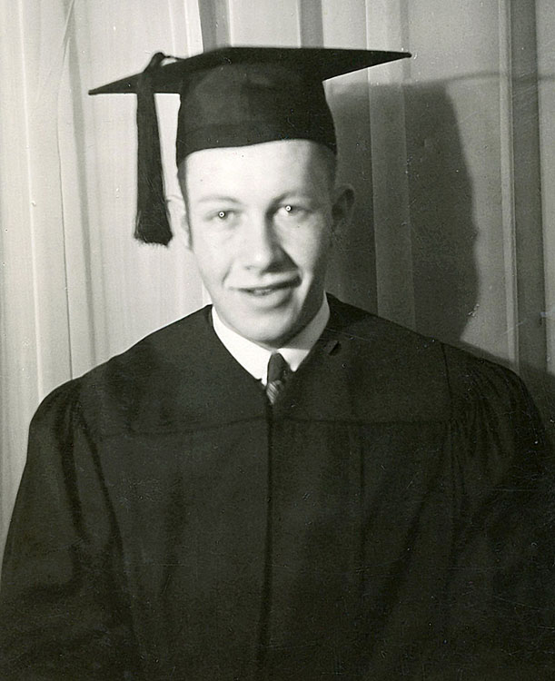 Allen's high school graduation photo