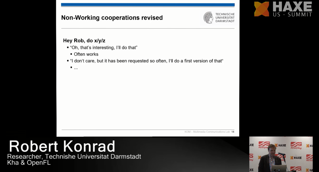Non-working cooperations revised