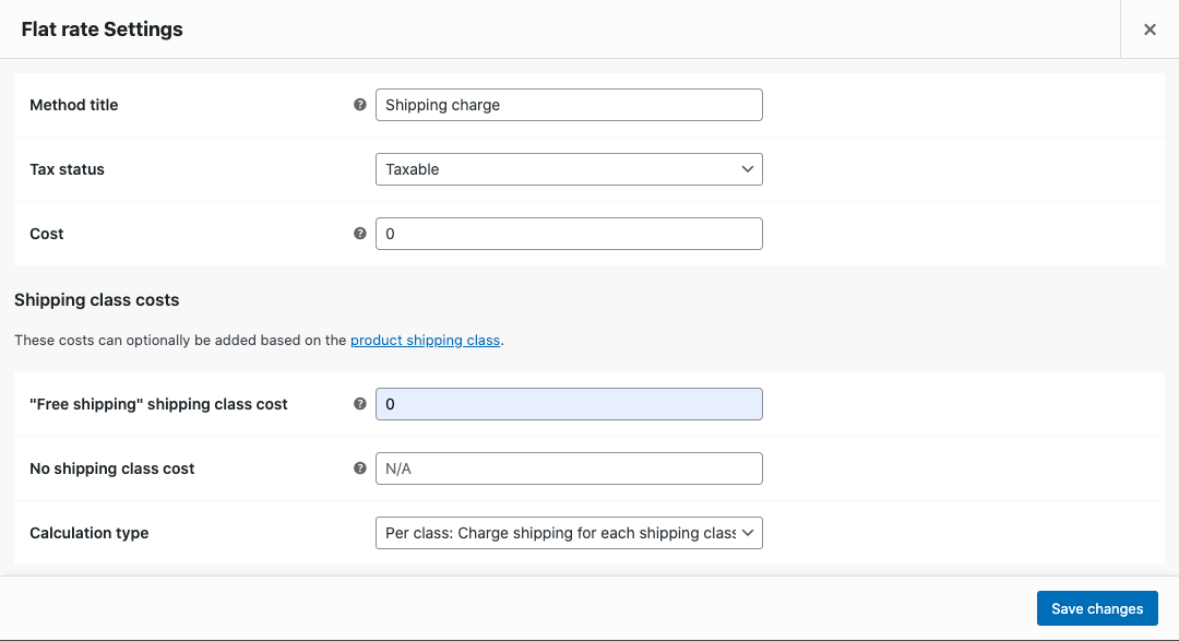 Configure flat-rate shipping settings
