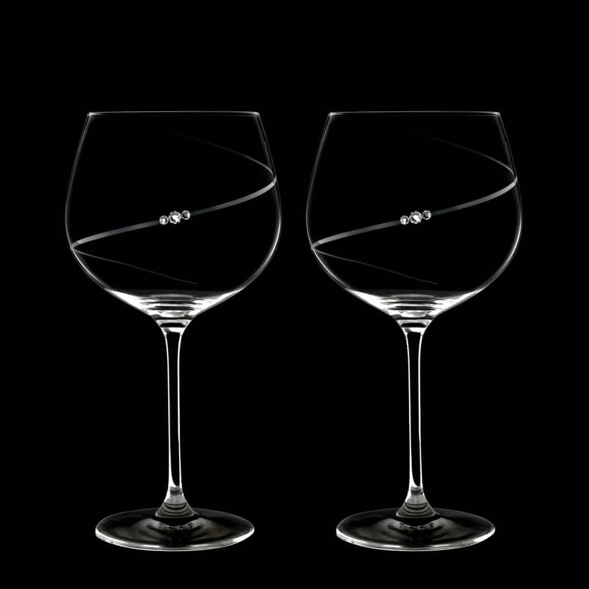 Gift ideas for the bride; wine glass set