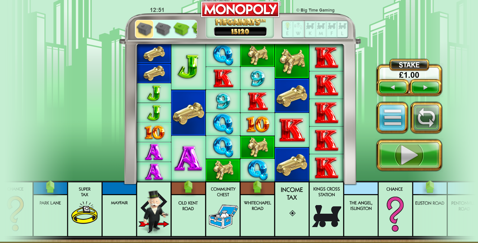 Monopoly Megaways is a video slot that looks like Monopoly
