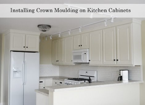 Adding crown moulding to wall kitchen cabinets momplex for Attaching crown molding to kitchen cabinets