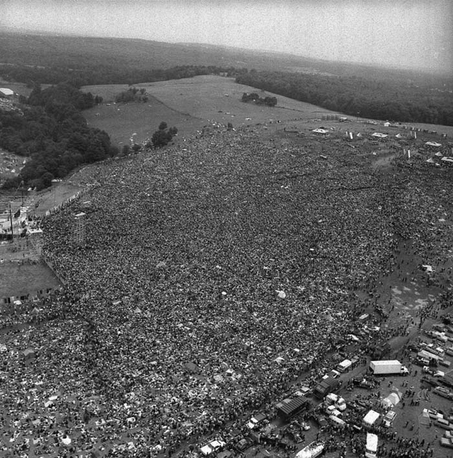 16 - Crowds at the original Woodstock Music Festival