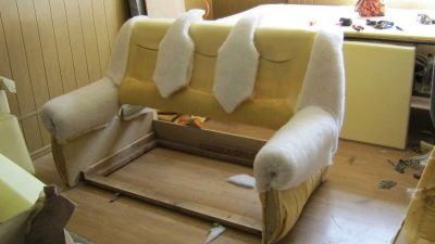 Фиксация поролона к дивану