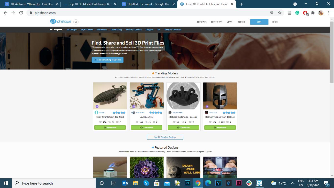 download free 3D models