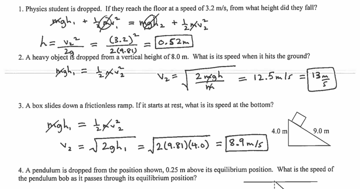 Law of Conservation of Energy Worksheet Answers.pdf - Google Drive