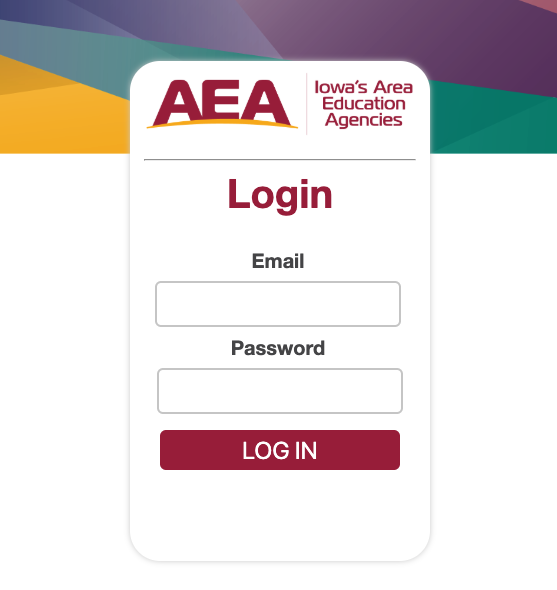 Username and password log in page for the new registration system