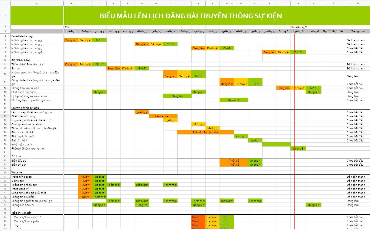 Dùng lịch trên máy tính để thiết kế timeline công việc