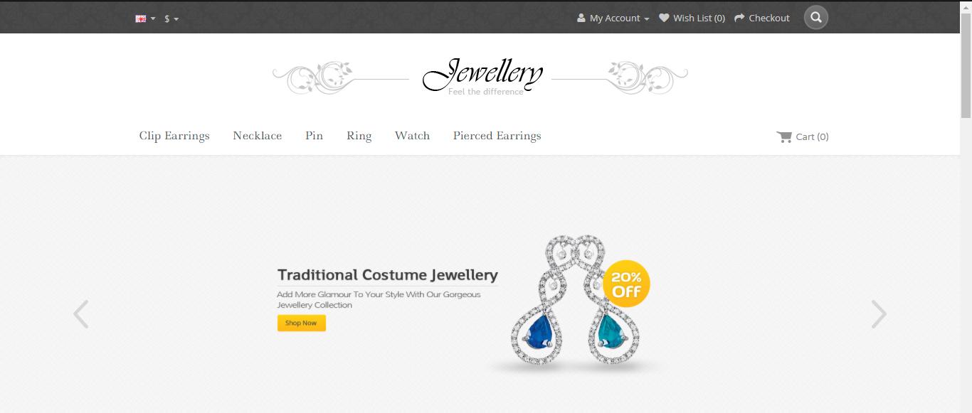 Jewellery - Opencart jewelry theme